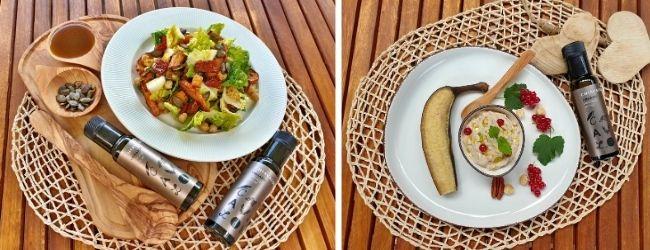 Výrazná chuť Chiavalon Organic vynikne v kombinaci se zeleninovými saláty nebo dezerty jako je například grilovaný banán
