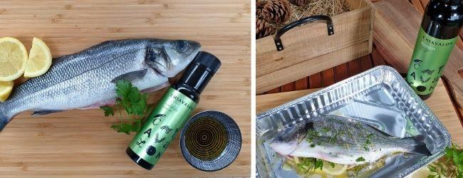 Chiavalon Romano je jemný prémiové olivový olej skvělý na dochucení ryb