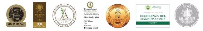Zlaté medaile pravidelně sbírají olivové oleje Chiavalon na prestižních mezinárodních soutěžích