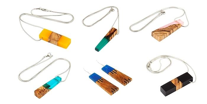 Šperky z olivového dřeva