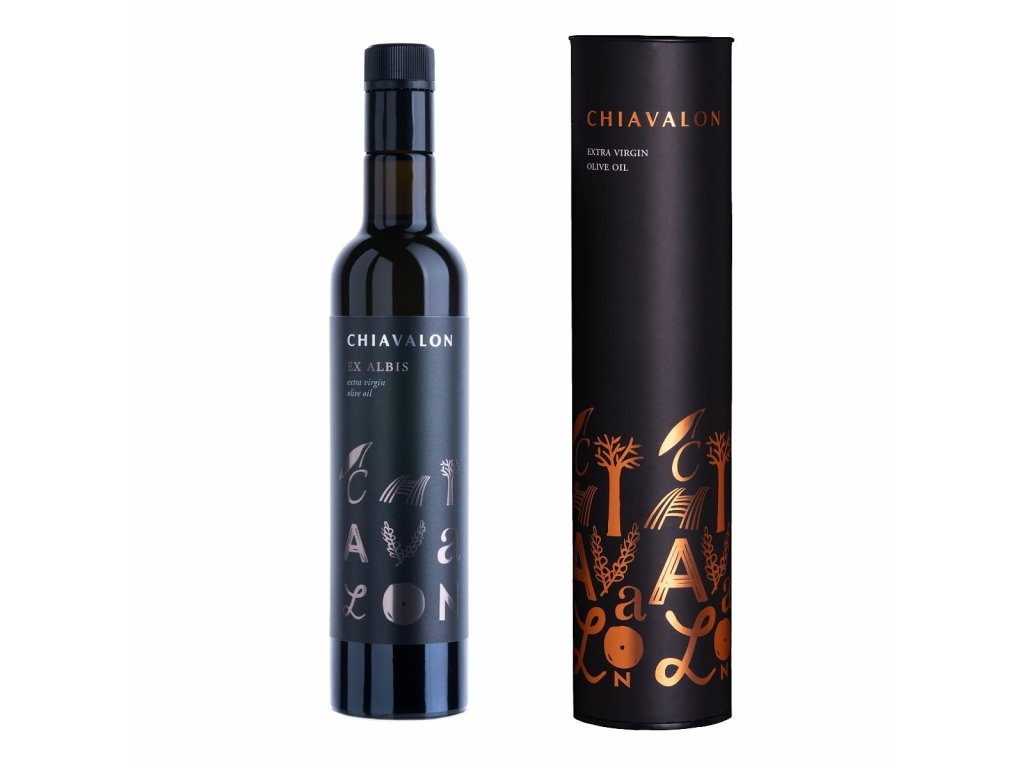 Chiavalon Ex Albis - prémiový olivový olej v černé dárkové tubě