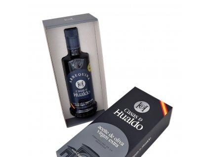 Prémiový extra panenský olivový olej Casas de Hualdo Arbequina 500ml v dárkovém balení