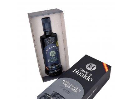 Prémiový extra panenský olivový olej Casas de Hualdo Manzanilla 500ml v dárkovém balení
