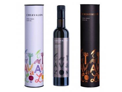 Chiavalon Organic - prémiový olivový olej v černé dárkové tubě