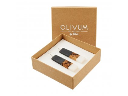 Náušnice z olivového dřeva Elisa No. 1