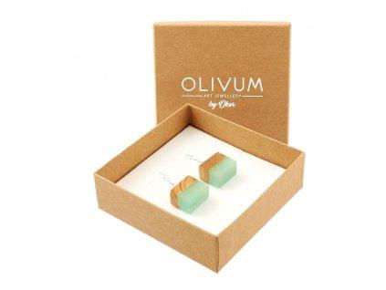Náušnice z olivového dřeva Elisa No. 2