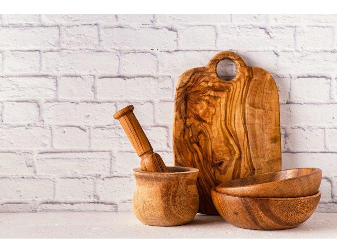 Zaoblená doska z olivového dreva
