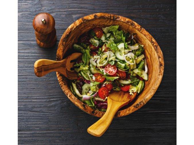 Rustikálna miska z olivového dreva 02