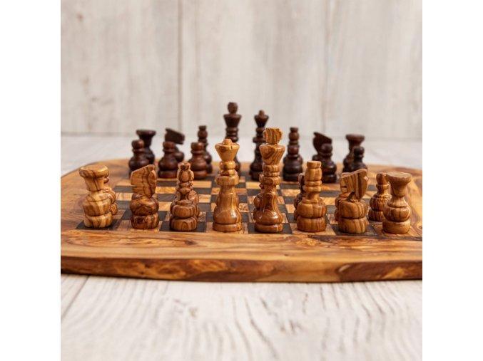 Drevený šach rustikálny