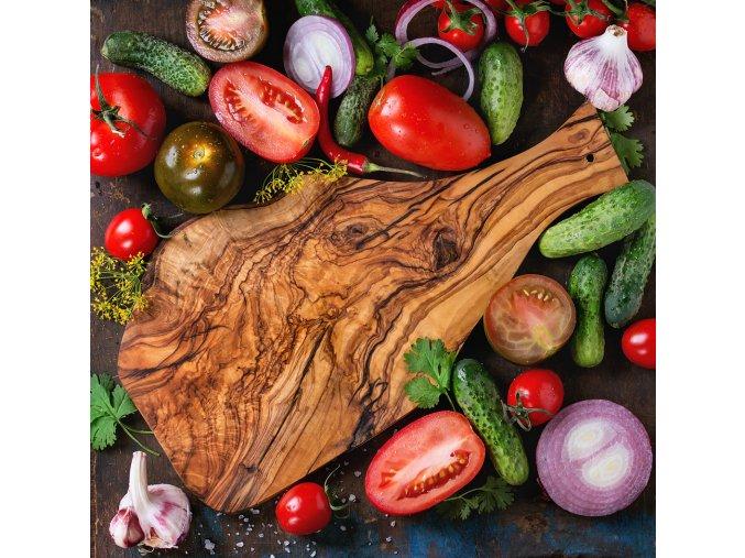 Rustikálny lopárik z olivového dreva tenký 01