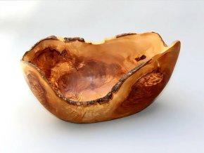 Drevená miska rustikálna 18x15x10 cm