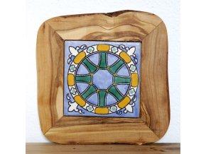 Podložka drevo+keramika 50