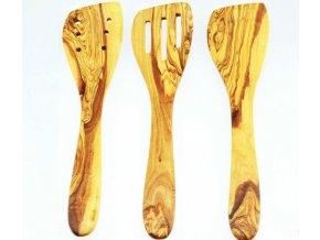 Set hranatých varešiek z olivového dreva