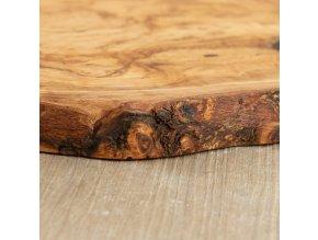 Doska z olivového dreva s oválnou rúčkou 02