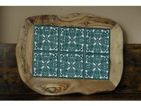 Podložka drevo+keramika 42x30 cm 01