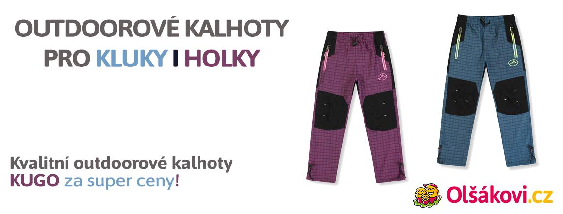 Dívčí a chlapecké outdoorové kalhoty KUGO