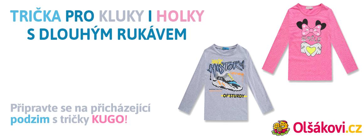 Trička KUGO s dlouhým rukávem pro kluky i holky!