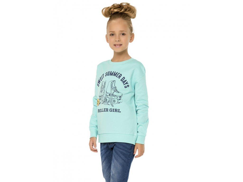Dívčí mikina tyrkysová