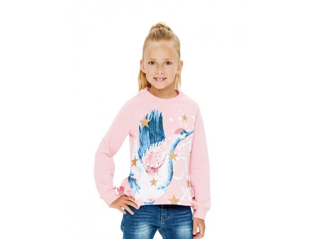 Dívčí mikina růžová
