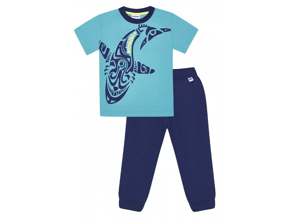 Chlapecké pyžamo - Winkiki WKB 91168, tyrkysová/ tmavě modrá