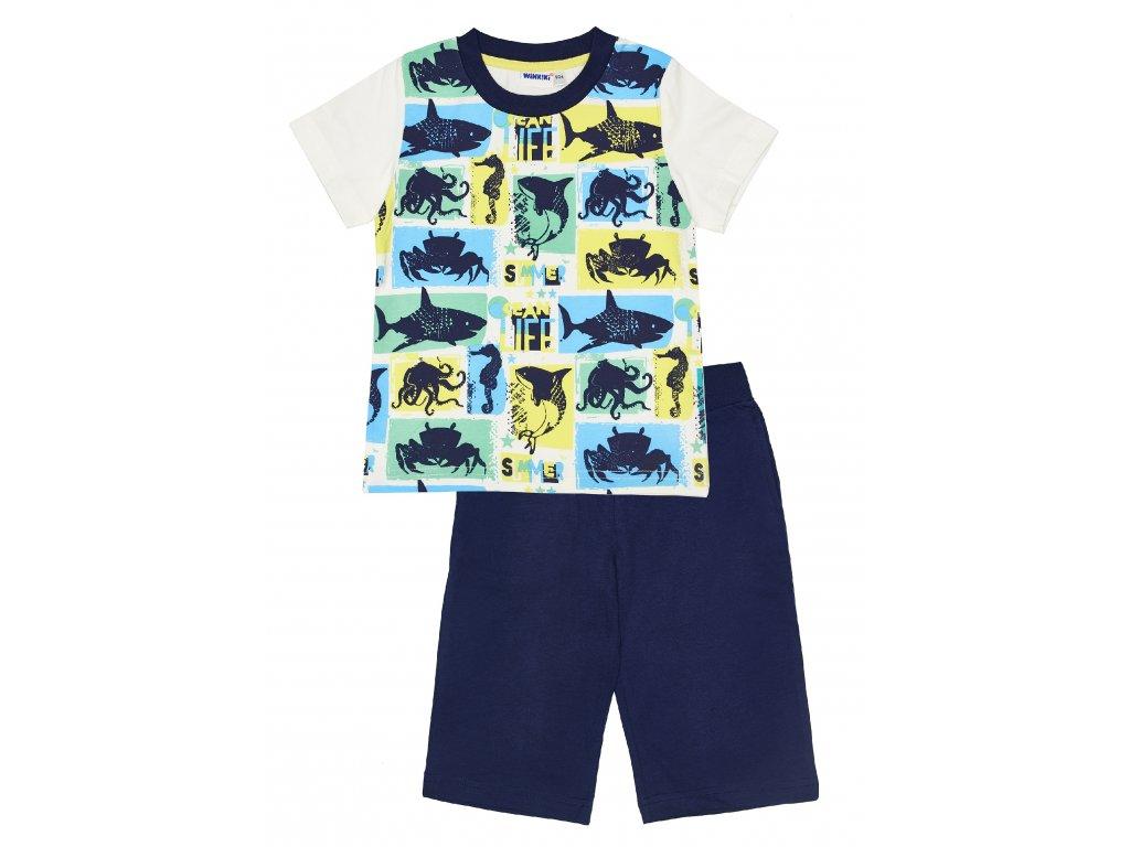 Chlapecké pyžamo - Winkiki WKB 91169, bílá/ tmavě modrá