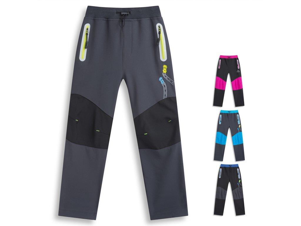 Chlapecké softschellové kalhoty s flísem