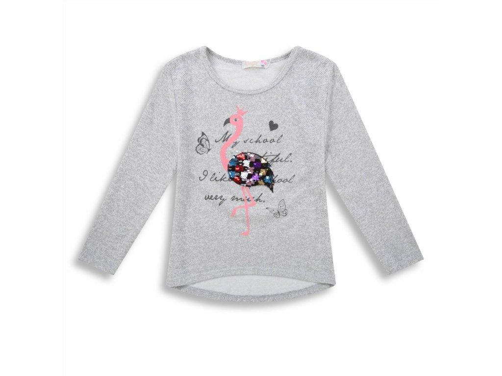 Dívčí triko , svetřík s flitry