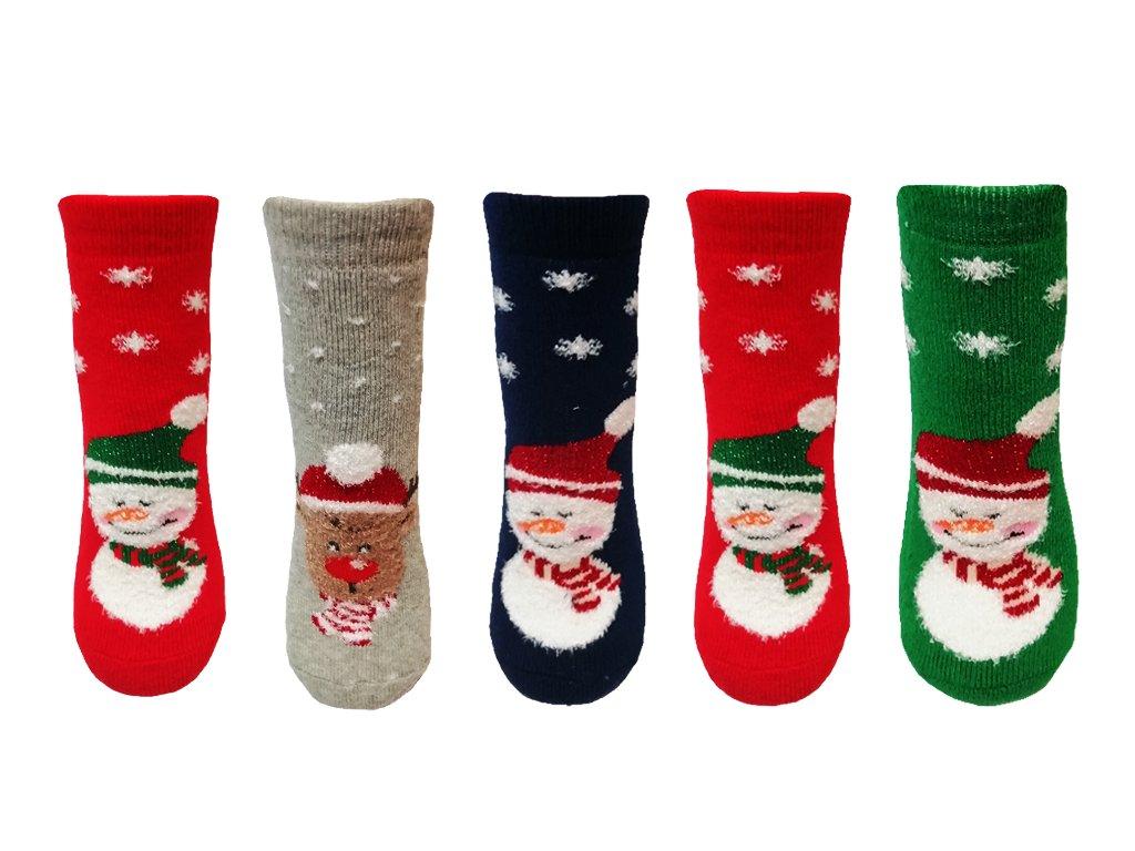 ponozky snehulak