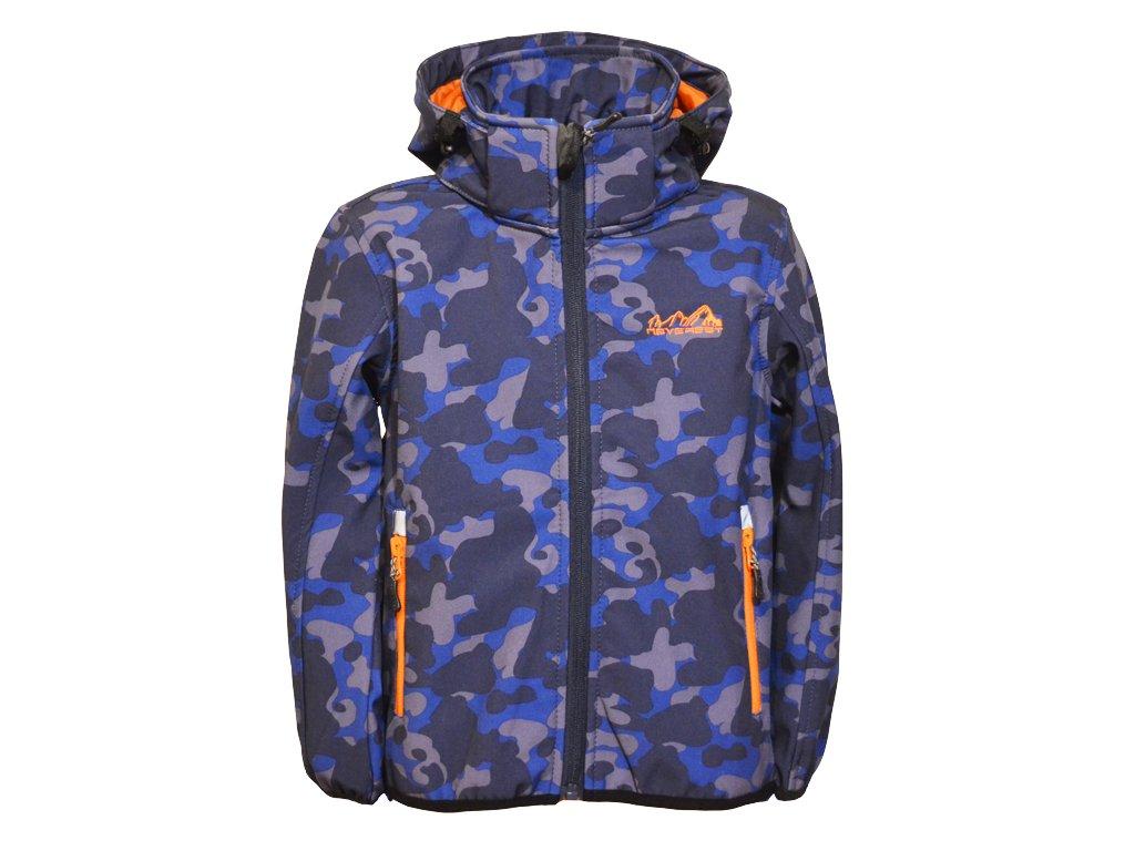 softshellova bunda modra oranzova 1