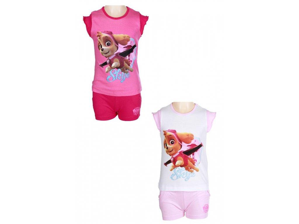 Dívčí pyžamo - SETINO Paw 832-647, růžová