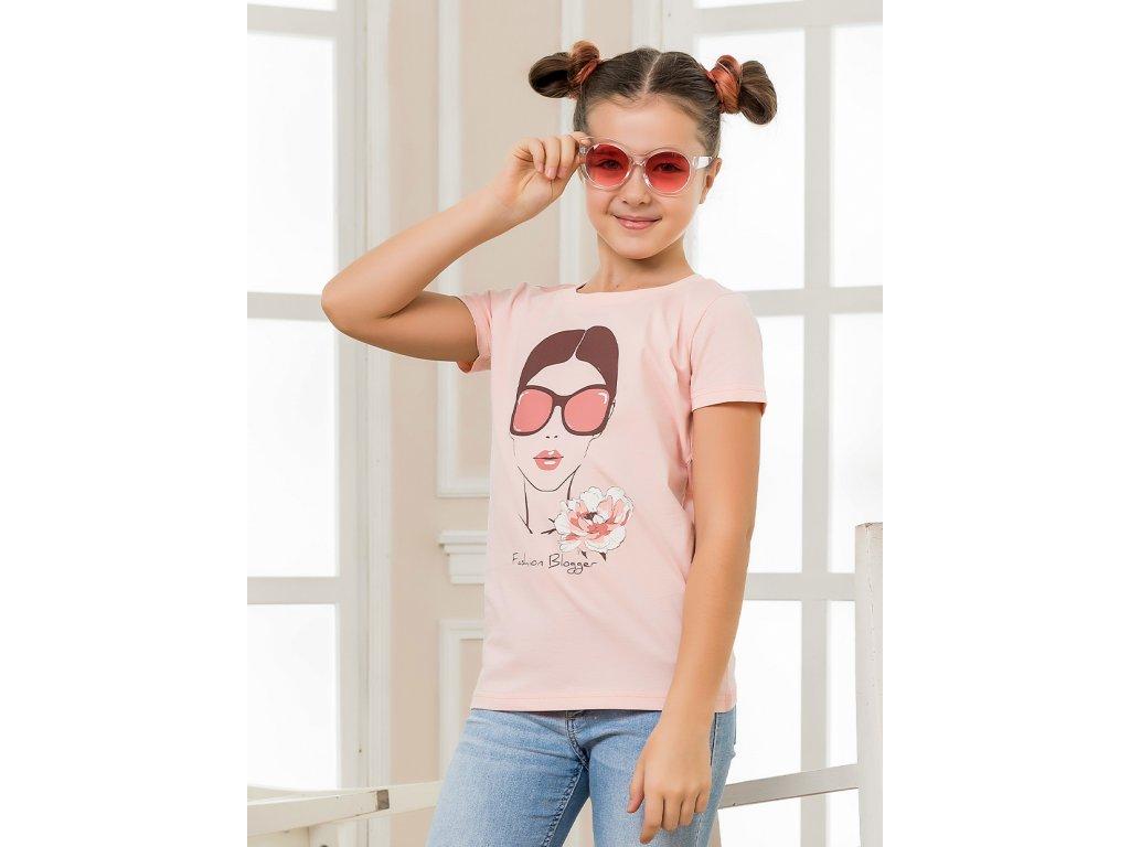 Dívčí triko s krátkým rukávem