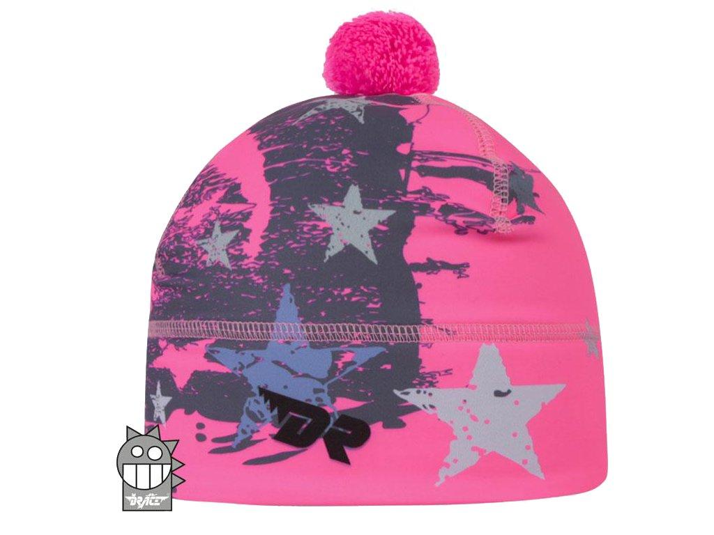 Dívčí zimní funkční čepice Dráče - Flavio 1, růžová