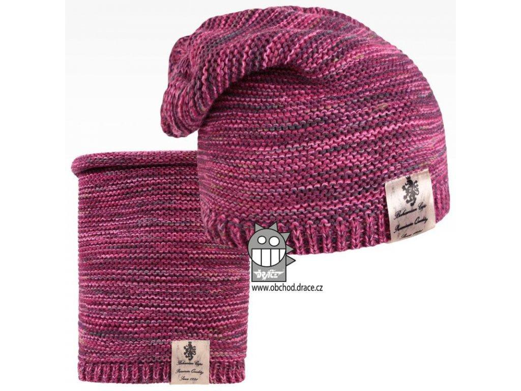 Čepice pletená a nákrčník Colors set