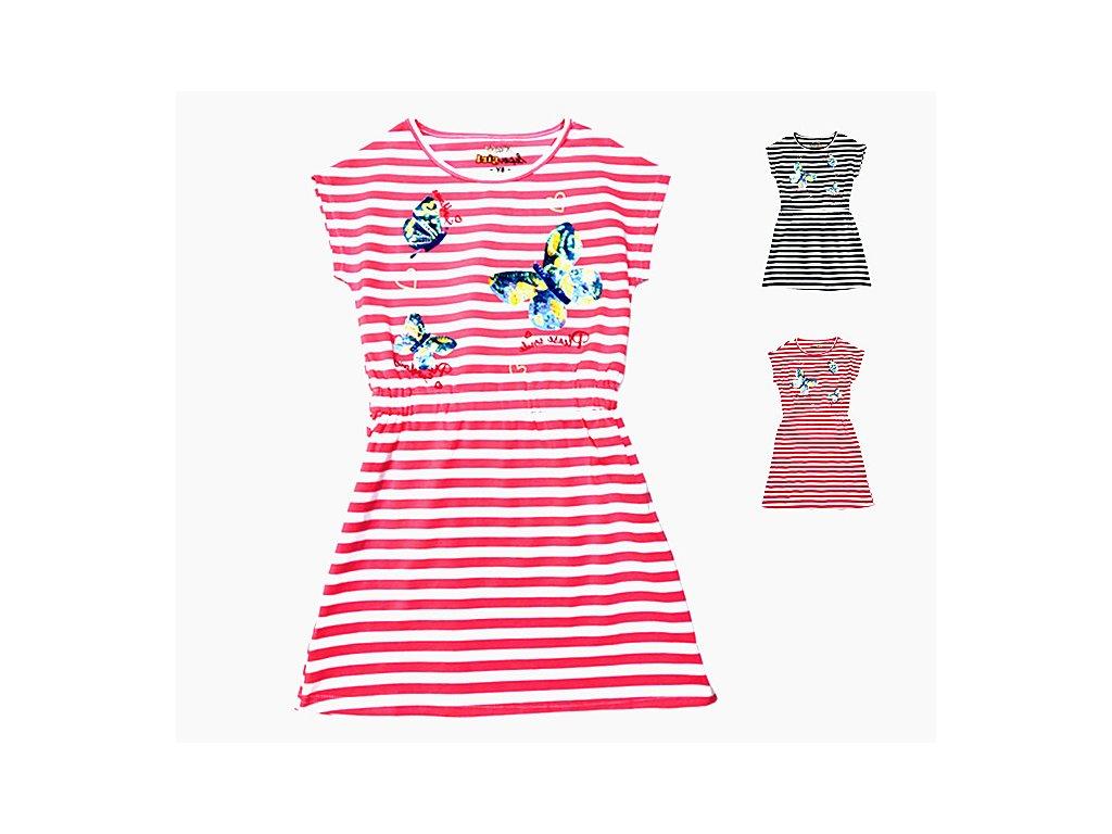 Dívčí šaty s flitry - KUGO S3050, vel.4-12