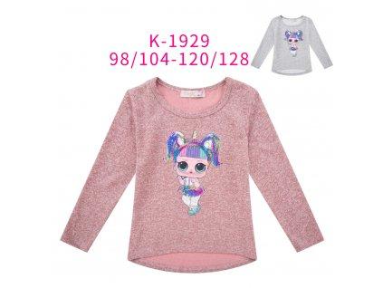 Dívčí triko , svetřík blikající