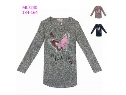 Dívčí triko, svetřík s flitry