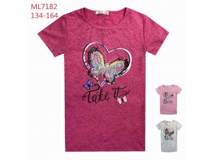 Dívčí triko s flitry