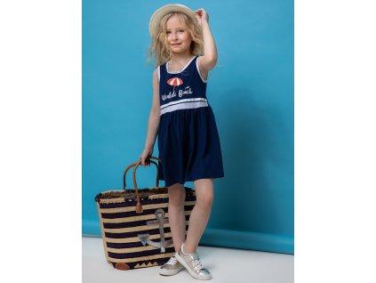 Dívčí letní šaty bez rukávu