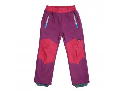 Dívčí softshellové kalhoty, zateplené