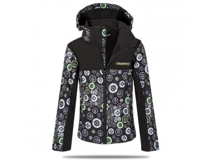 bunda sipky zelena I 6295C