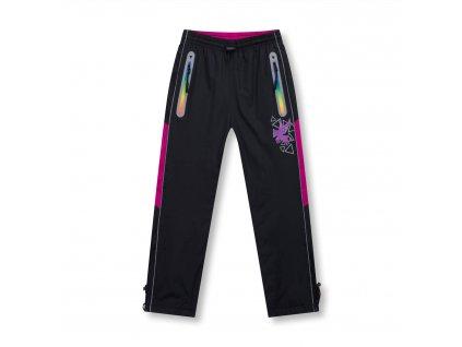 Dívčí šusťákové kalhoty, zateplené