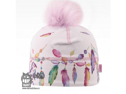 Dívčí zimní funkční čepice Dráče