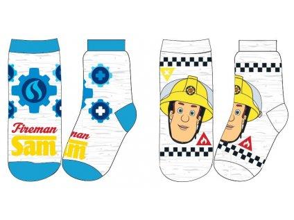 Chlapecké ponožky - Požárník Sam 5234068, světle šedý melír