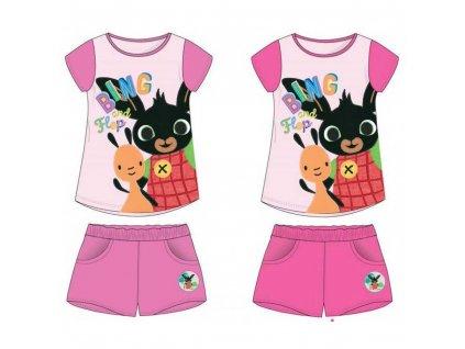 Dívčí letní komplet - Králíček Bing 970-019, růžová