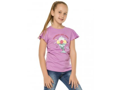 Dívčí triko Winkiki WJG 91400, fialková