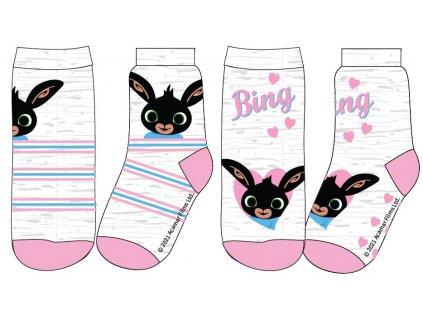 Dívčí ponožky - Králíček BING 5234004, šedý melír