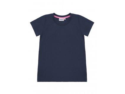 Dívčí jednobarevné bavlněné triko