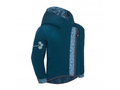Dětská softshellová bunda s fleecem - Unuo Cross Sharp, kobaltová