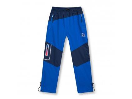 Chlapecké šusťákové kalhoty, zateplené - KUGO D951, modrá