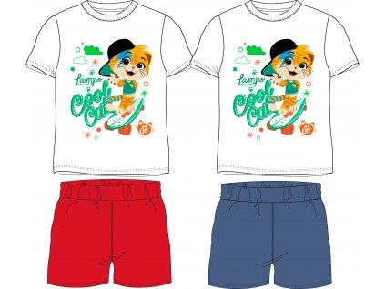 Chlapecké pyžamo - 44 koček 5204005, červená